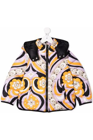 Emilio Pucci Swirl-print padded coat