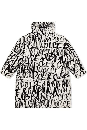 Dolce & Gabbana Quilted logo-print coat