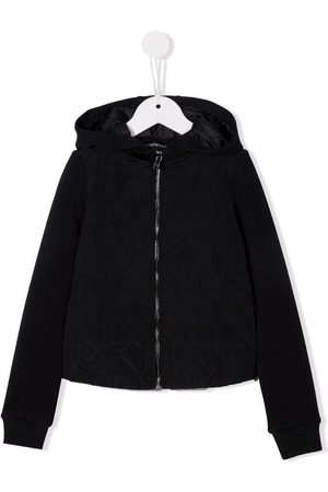 Emporio Armani Quilted zipped hoodie