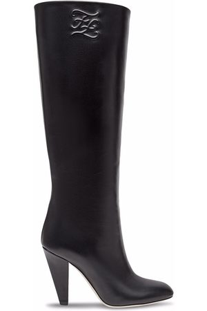 Fendi Dames Laarzen - FF Karligraphy-motif boots