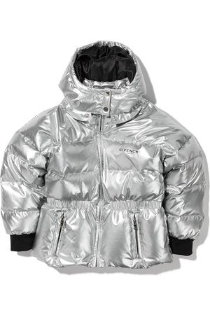 Givenchy Metallic quilted puffer jacket