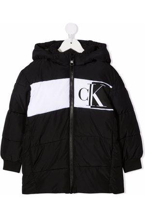 Calvin Klein Jongens Donsjassen - Logo print padded coat