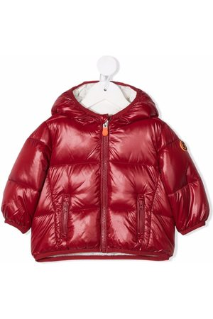 save the duck Logo patch padded jacket