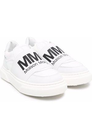 MM6 KIDS Logo-print slip-on sneakers