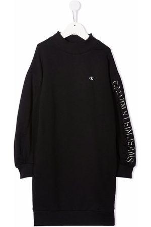 Calvin Klein Meisjes Casual jurken - Logo-print sweatshirt dress