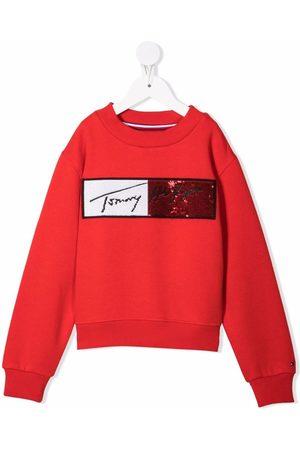 Tommy Hilfiger Sequin-embellished cotton sweatshirt