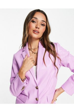 French Connection Crolenda blazer in lilac PU co-ord-Purple