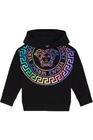 VERSACE Girls Black Medusa Logo Hoodie - 6Y BLACK