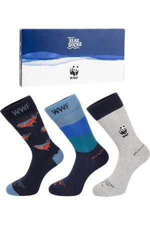 Healthy Seas Socks Heren giftbox 3-pack conger (WWF)