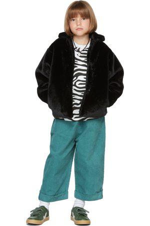 The Campamento Kids Black Faux-Fur Jacket