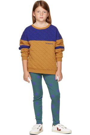 The Campamento Kids Tan & Blue Contrast Sweatshirt
