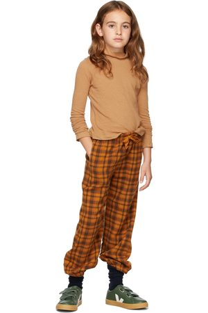 Longlivethequeen Kids Flannel Check Lounge Pants