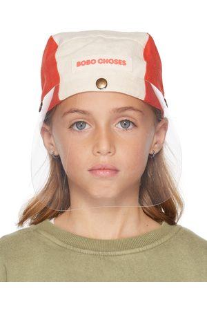 Bobo Choses Kids Off-White & Orange Protector Cap