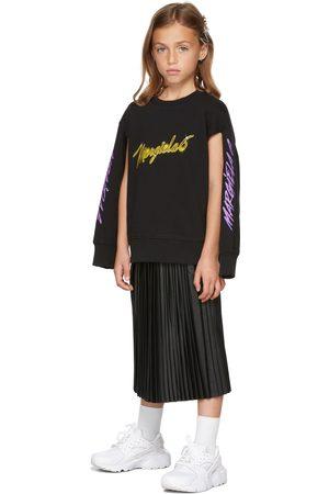MM6 MAISON MARGIELA Kids Faux-Leather Pleated Skirt