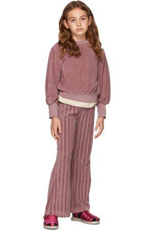 Longlivethequeen Kids Velvet Puffed Sweatshirt