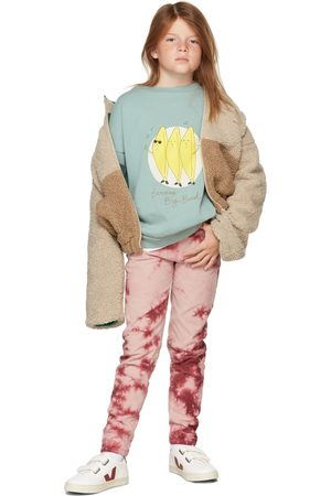 The Campamento Kids Red Corduroy Tie-Dye Trousers