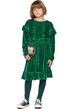 The Campamento Kids Green Velour Dress