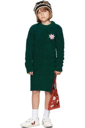 The Campamento Kids Green Bouclé Dress