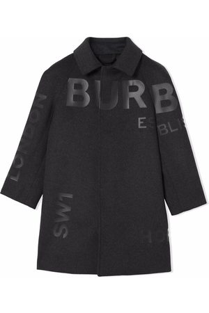 Burberry Horseferry-print single-breasted coat