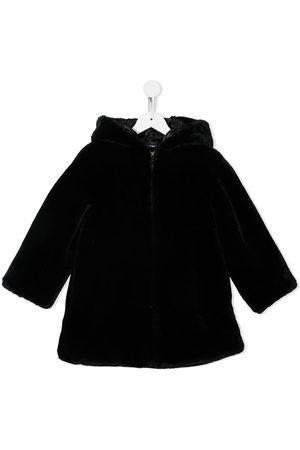 Emporio Armani Hooded faux-fur coat