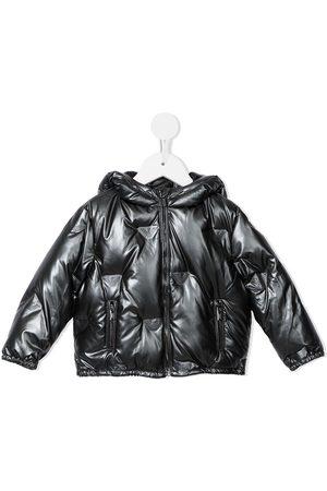 Emporio Armani Embossed logo puffer jacket