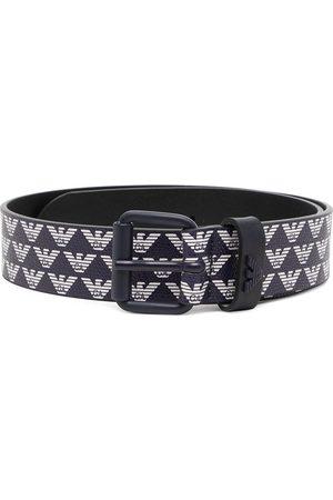 Emporio Armani Logo-print canvas belt
