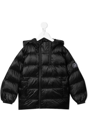 Emporio Armani Logo-patch hooded down padded coat