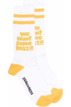 Dsquared2 Slogan-print two-tone socks