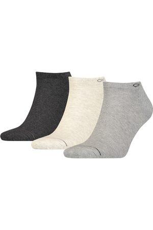 Calvin Klein Heren Sokken - Basic sneaker 3-pack grijs & beige