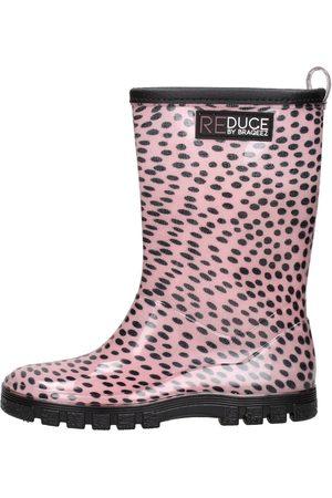 Reduce By Braqeez Meisjes Regenlaarzen - Rainboot Dots Old Pink Black