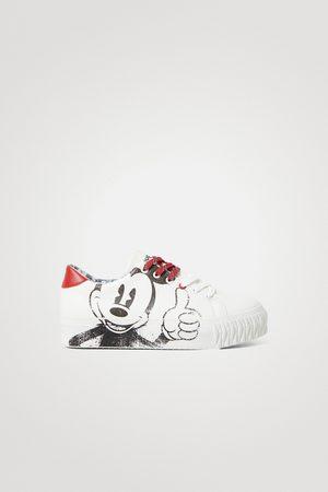 Desigual Sneakers met Mickey Mouse-illustratie