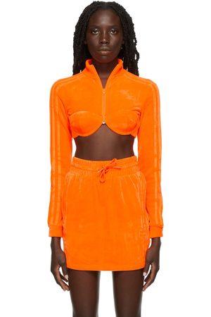 adidas Dames Donsjassen - Orange Jeremy Scott Edition Track Jacket