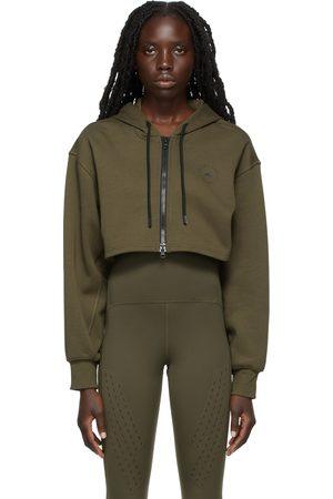 adidas Khaki SC Cropped Zip Hoodie