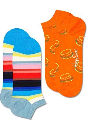 Happy Socks Sokken - Sokken 2-Pack Lunch Time Stripe Low