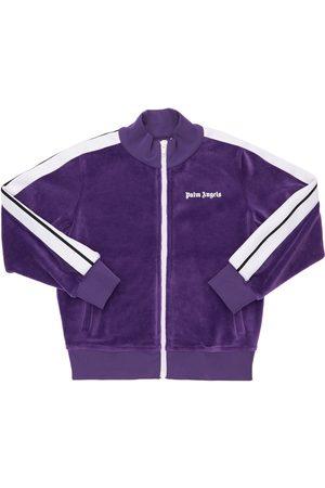 Palm Angels Meisjes Sweaters - Logo Zip-up Chenille Sweatshirt