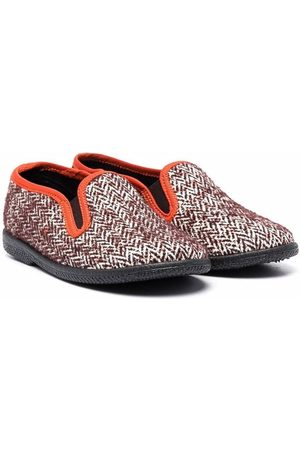 PèPè Herringbone-pattern slip-on loafers