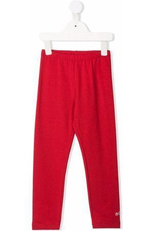 MONNALISA Rhinestone-embellished logo leggings