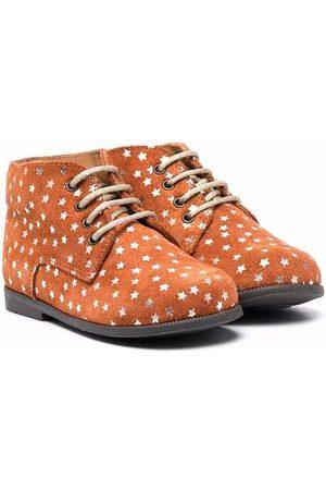 TWO CON ME BY PÈPÈ Star-print lace-up boots