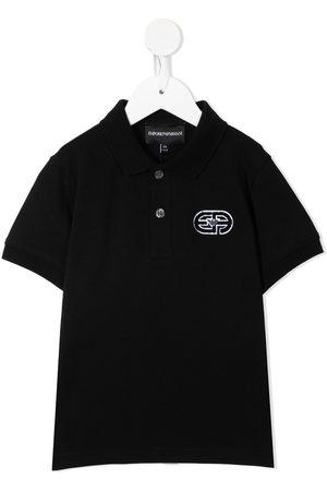 Emporio Armani Logo-print short-sleeved polo shirt