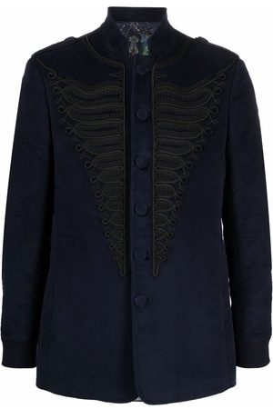 Etro Embroidered button-up military jacket