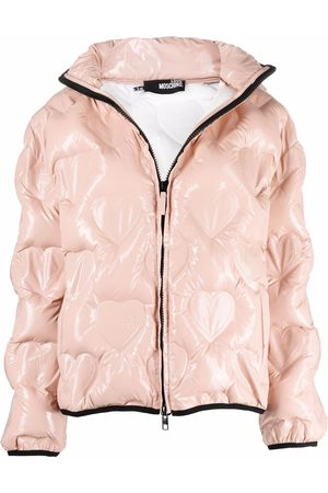 Love Moschino Quilted-heart jacket