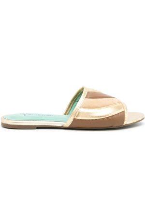Blue Bird Padded colour-block sandals