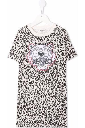 Kenzo Organic cotton leopard-print dress