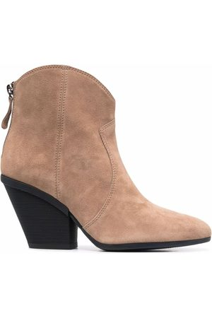 Hogan Suede tapered-heel ankle boots