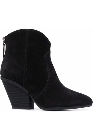 Hogan Suede 85mm tapered-heel ankle boots