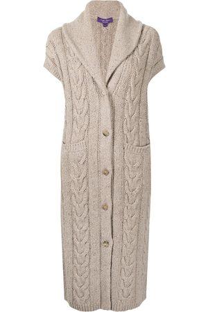 Ralph Lauren Cable-knit cashmere cardi-coat