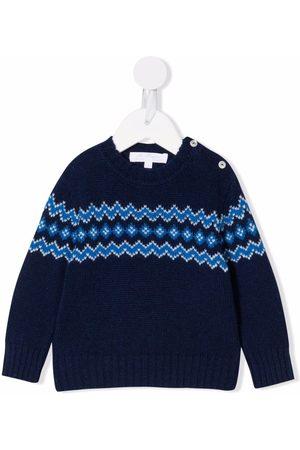 Mariella Ferrari Intarsia-knit knitted jumper