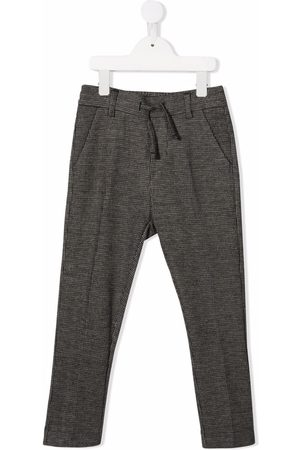 Paolo Pecora Pressed-crease drawstring-waist trousers
