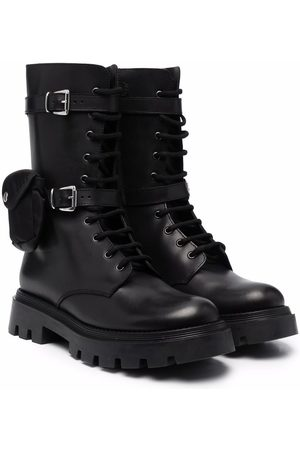 GALLUCCI TEEN buckle-fastened tall boots