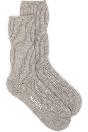 N.PEAL Rib-knit bed sock